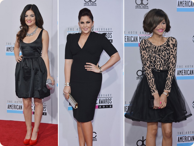 AMA 2012, Nokia, premiação, red carpet, Lucy Hale, Hillary Scott, Zendaya