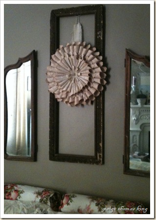 headboard cone wreath