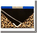 Dune Leopard Clutch Shoulder Bag