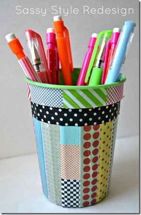 DIY locker accessories finished pencil holder