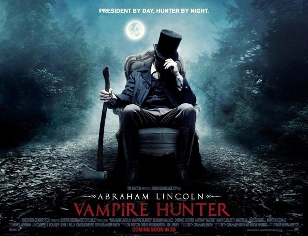 abe lincoln vamp hunter poster