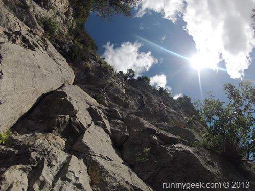 Escalade en falaise au Thaurac