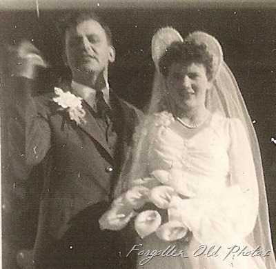Wedding snapshot October 21 1944 Winnipeg Antiques