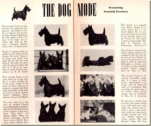 Scotties in  1942 Vogue Magazine