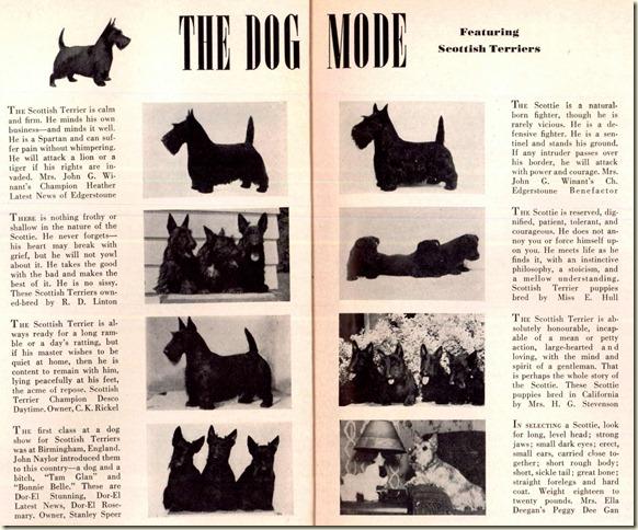 Scotties in  1942 Vogue Magazine