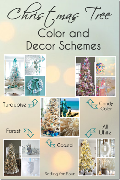 7 christmas holiday decor ideas setting for four - Christmas tree color schemes ...