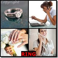 RING- 4 Pics 1 Word Answers 3 Letters