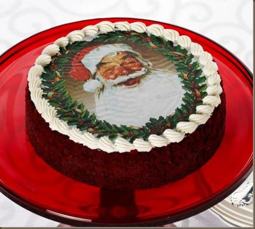 Santa cheesecake