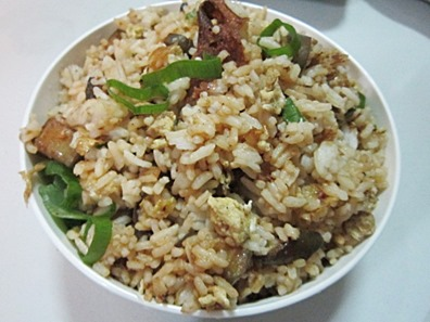 eggplant fried rice, 240baon