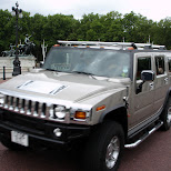 hummer on the loose in London, London City of, United Kingdom