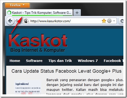 Menampilkan Progress Bar di Firefox