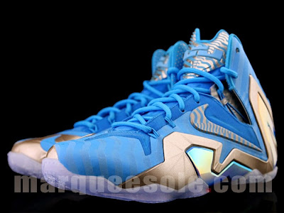 nike lebron 11 ps elite blue 3m 1 01 Nike LeBron 11 Elite Blue Stripe 3M