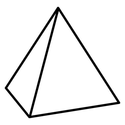 Figuras para colorear forma de piramide  Imagui