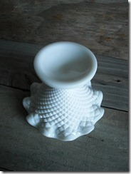 hobnail milk glass compote