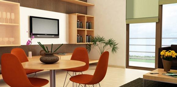 diseñar un comedor en un cuarto pequeño