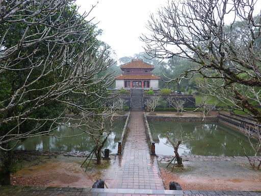 Next Minh Mang mausoleum. This is the Minh pavilion, upon Tham Tai mountain apparently.