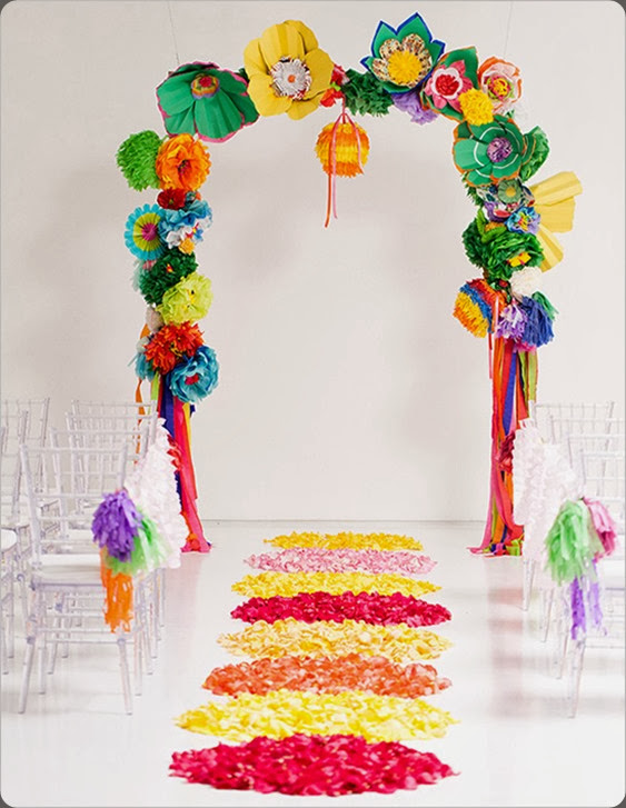 colorful wedding_ceremony_ideas Ben Q. Photography. bows and arrows