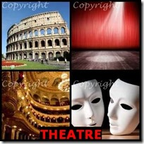 THEATRE- 4 Pics 1 Word Answers 3 Letters