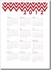 2012 Calendar B - Red - 5x7 - Sprik Space