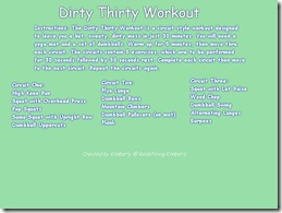 Dirty Thirty Workout Image
