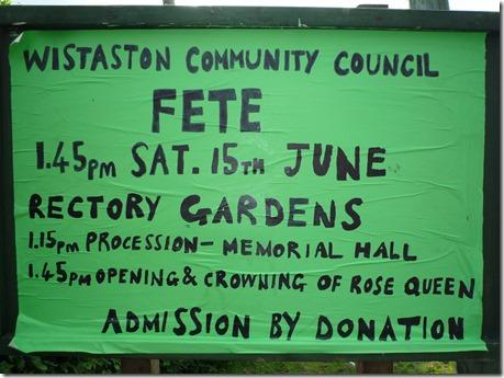 Wistaston Village Fete - this Saturday 15th June
