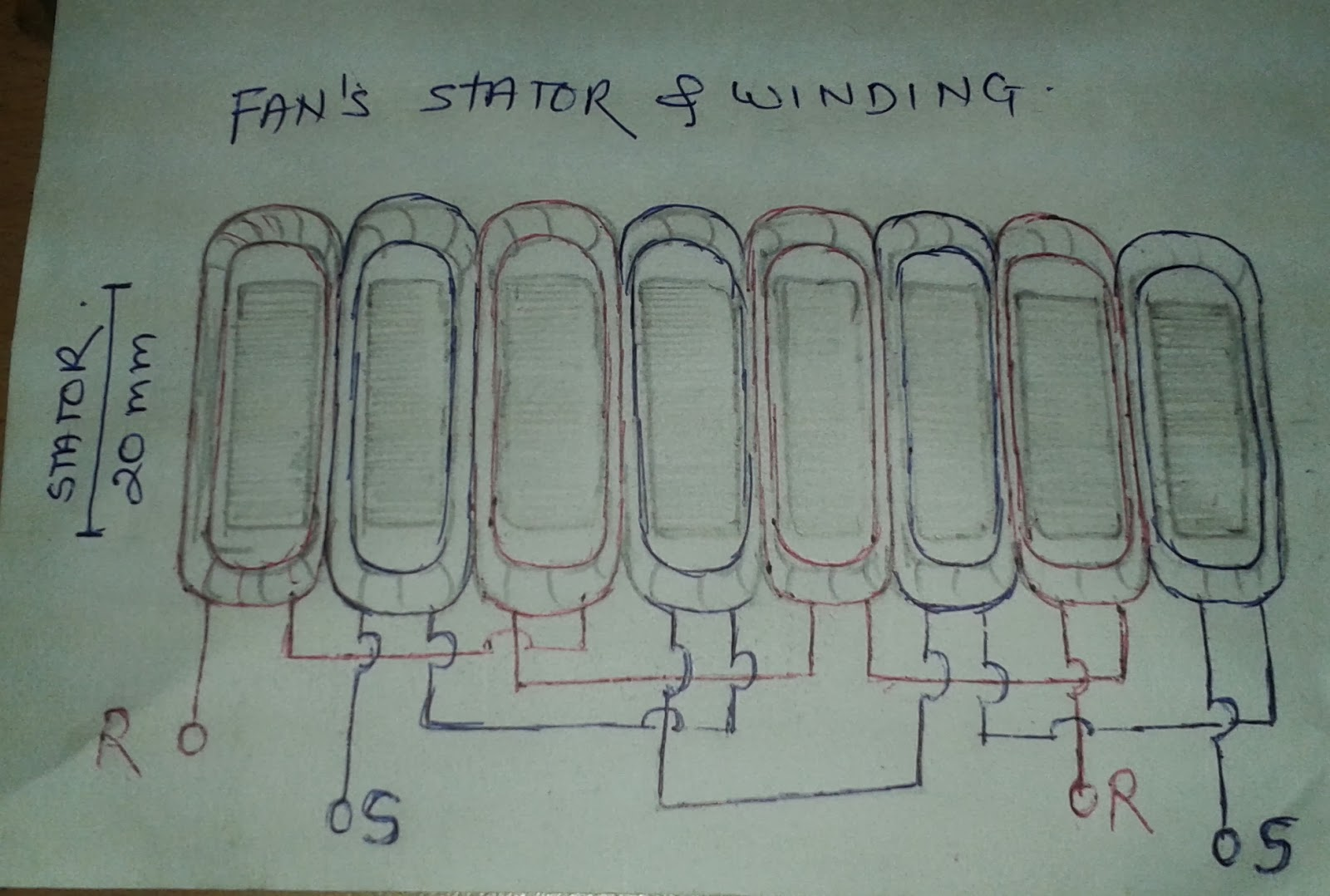 Almonard Wall Fan Winding Data
