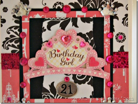 Pink Black White Card 