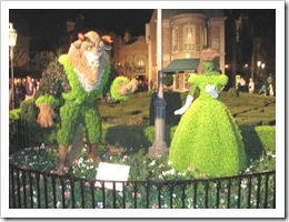 Florida vacation Epcot topiary beauty and the beast