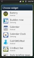 Screenshot of Battery Widget (Circular)