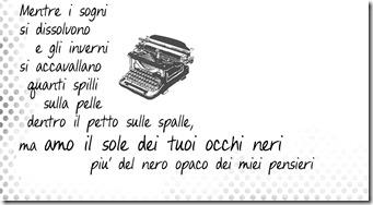 dettaglio canzone macchina da scrivere