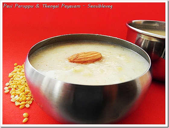 Mungdalcoconutpayasam