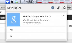 Google Now su Google Chrome