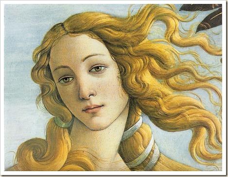 Botticelli - El nacimiento de Venus (cara)