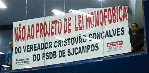 camara São José dos Campos protesto kit gay