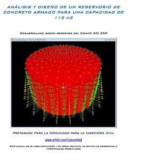 Analisis y diseño de un reservorio de concreto armado