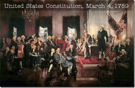 United States Constitution, March 4, 1789