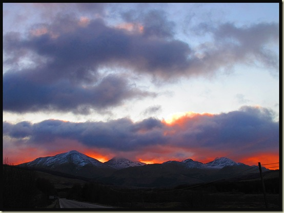 Sunrise over the Crianlarich Hills