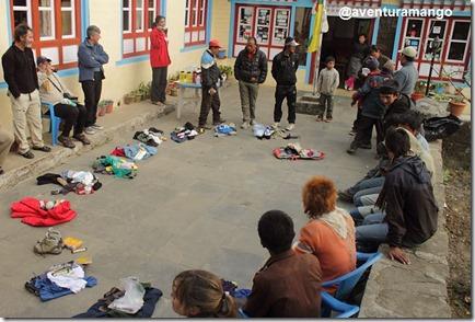 doações e sorteio entre os sherpas