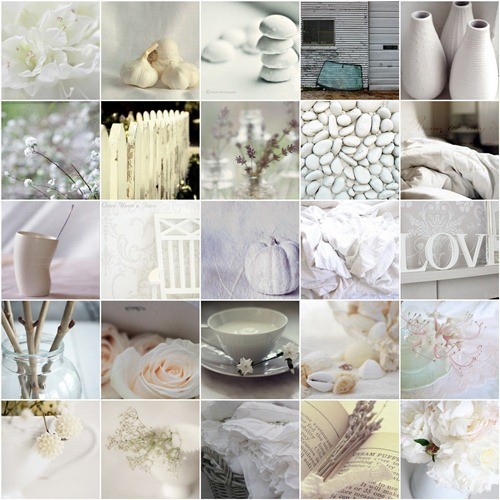 Color White Mosaic