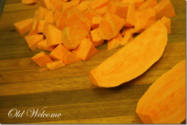 diced sweet potato old welcome