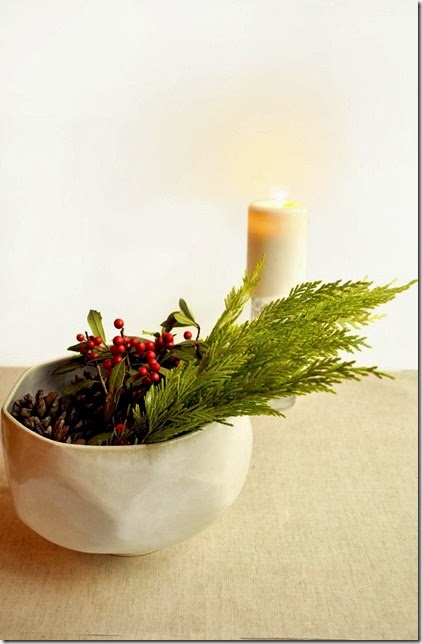 simple and natural holiday decor