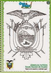 111 - Escudo del Ecuador_colorear