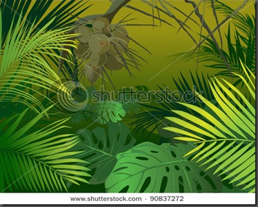 stock-vector-green-jungle-undergrowth-vector-illustration-tropical-plants-90837272