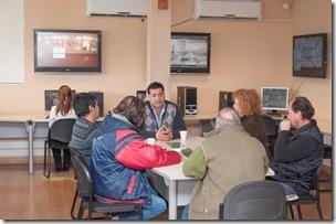 Roberto Ferreyra con integrantes de la Cámara de Comerio de Mar del Tuyú
