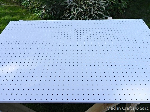 clean painted pegboard