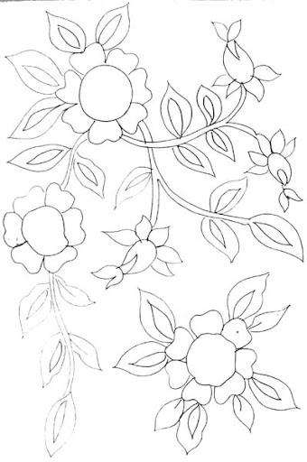riscos flores 12 jpg flores riscos para pintar bordar etc