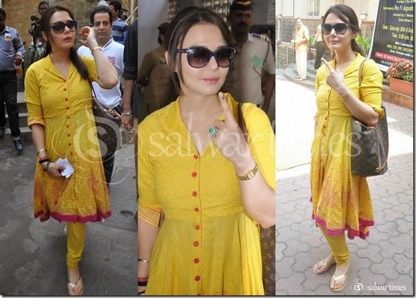 Preity_Zinta_Yellow_Salwar_Kameez