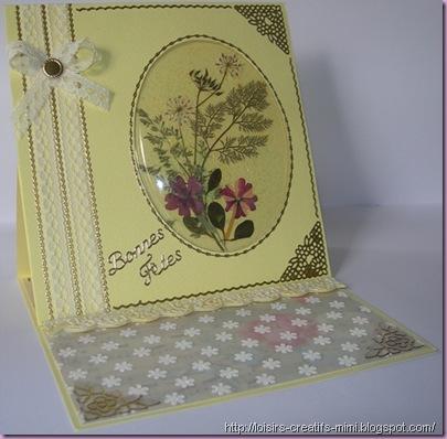 carterie créative, vellum, fleurs séchéees, transparent bombé, dentelle