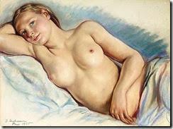 Zinaida-Serebriakova-Reclining-Nude