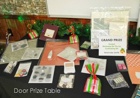 Door Prize table_Christmas Card day 2013 IMG_8908